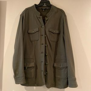Torrid olive green military style jacket size 3